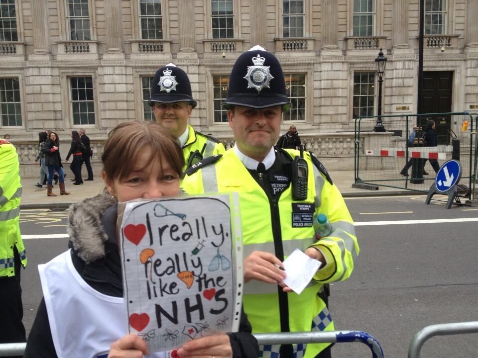 Lovely NHS nurse