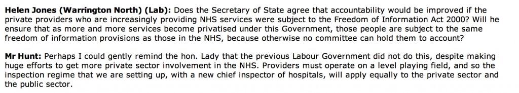 NHS accountability