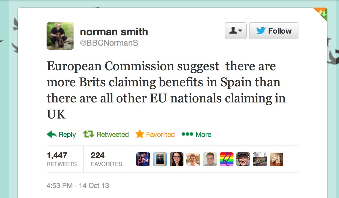 Norman Smith Tweet