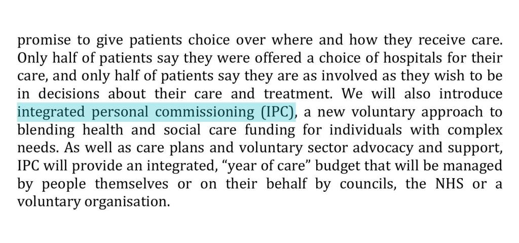 integrated care commissioning